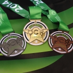 The OCR World Championships medals in bronze, silver, & gold