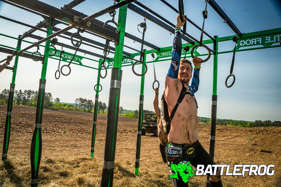 Strength & Speed Dev Team Athlete Josh Rundquist on one of his six laps at BFX Twin Cities.