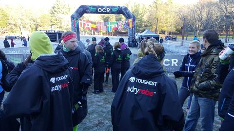Athletes at OCRWC staying warm. Don't worry...I'm sure Toronto should be warmer than Ohio...